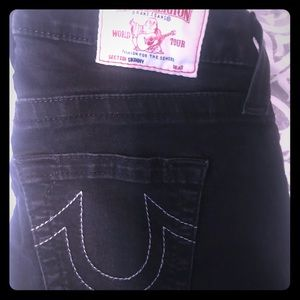 Black True Religion Skinny Jeans